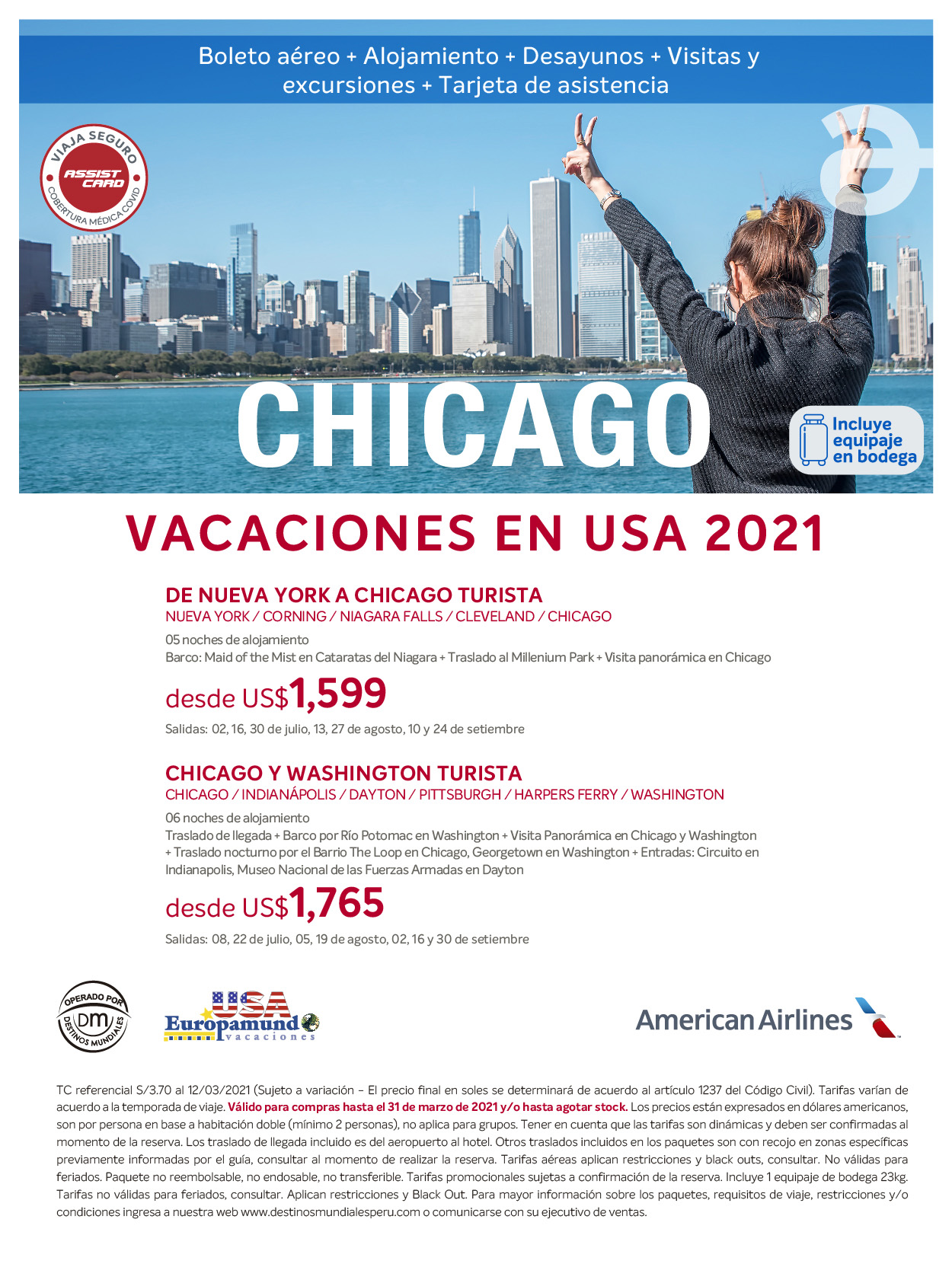 Paquetes a Chicago