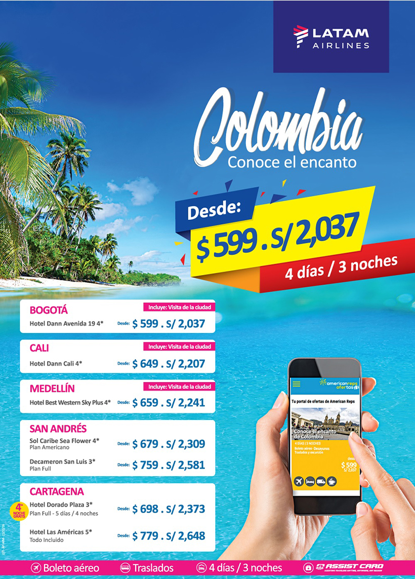 Paquetes a Colombia
