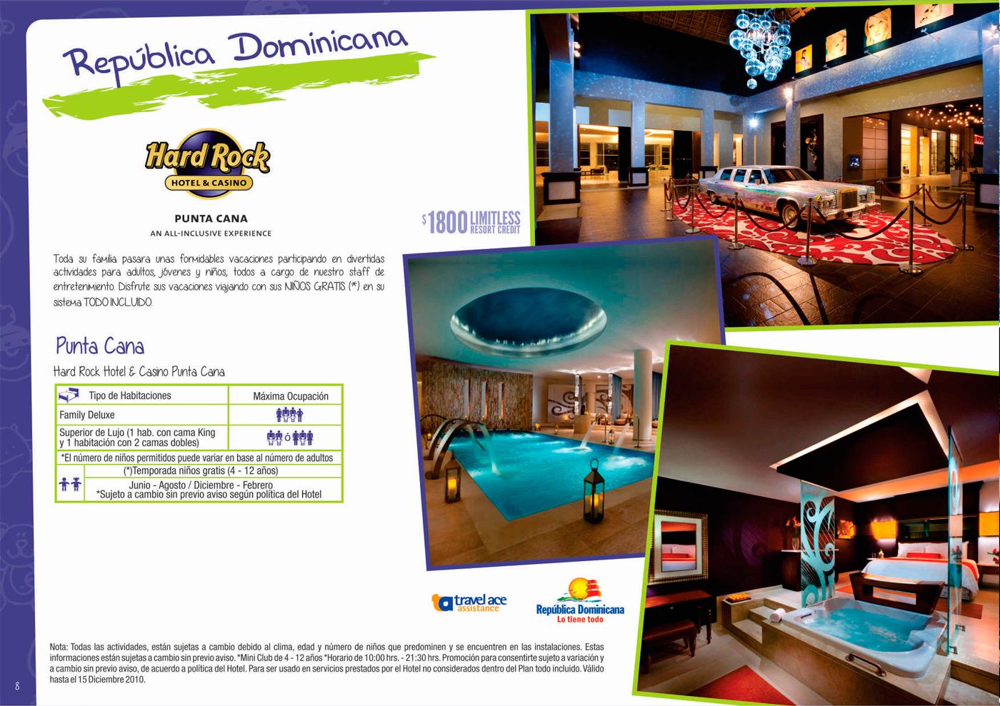 Vacaciones familiares con hoteles Hard Rock Punta Cana